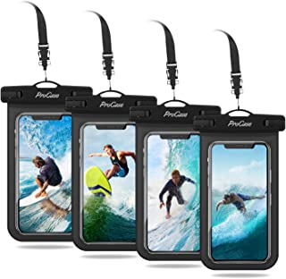 ProCase Universal Cellphone Waterproof Pouch Dry Bag Underwater Case for iPhone 11 Pro Max Xs Max XR X 8 7 6S Plus, Galaxy S10+ S10e S9 S8+ / Note 10 10+ 5G 9 8, Pixel 4 XL up to 6.8