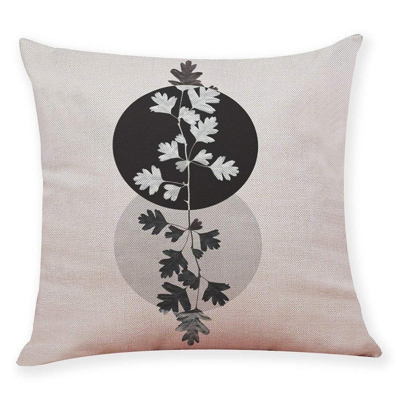 ご注意顕微鏡混乱した花植物投げ枕カバー、見えないジッパー付きリビングルームのソファ車の寝室のためのクッションケース家の装飾、es h \ w:18インチ* 18インチ