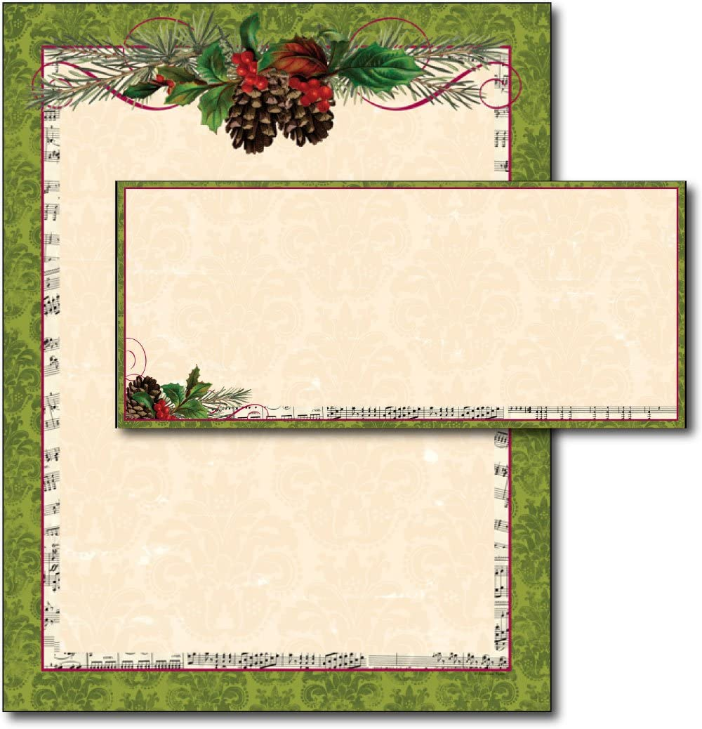 2021 Pinecone Garland Letterhead Envelopes Sets - OFFicial mail order 40