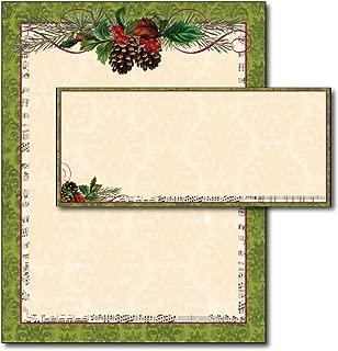 Pinecone Garland Letterhead & Envelopes - 40 Sets