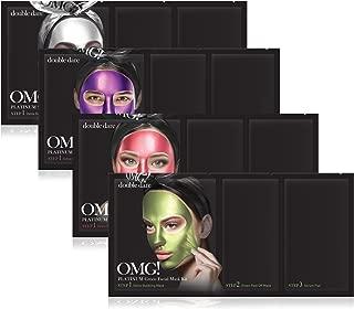 double dare OMG! Platinum Peel Off Masks Set - Includes Platinum Green, Hot Pink, Purple, Silver Masks