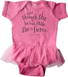 inktastic Though She Be But Little Shakespeare Quote Infant Tutu Bodysuit