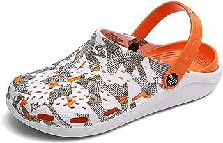 COOPCUP Zuecos de los hombres sandalias de EVA ligeras zapatillas de playa antideslizantes Mule jardín Zuecos zapatos casu...