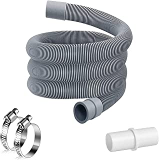 2M Rallonge Tuyau eau Machine a Laver,Rallonge Tuyau Lave Vaisselle,Tuyau de Machine à Laver,Kit d'Extension Flexible de V...