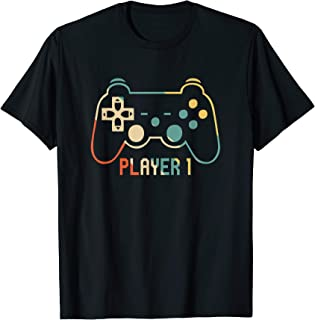 Matching Gamer tee for Dad, Mom & kids Player 1,2,3 Shirt