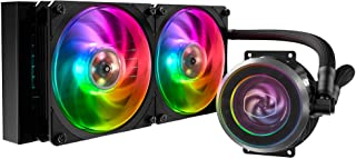 Cooler Master MasterLiquid ML240P Mirage Addressable RGB ARGB Double 120mm (240mm) Fan All-in-One CPU Water Cooler - Black...