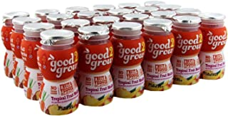 good2grow Tropical Fruit Medley Juice Bottles, 6-Ounce Good2grow Refills, 24 Pack - 22% Less Sugar Than 100% Juice, non-GMO, BPA-Free, Good Vitamin C Source - Use with Spill-Proof Good2grow Toppers