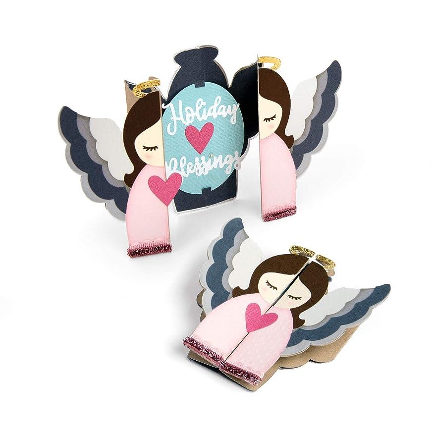 Sizzix 663173 Thinlits Die Set Card, Angel Fold Jen Long (13-Pack), Multicolor