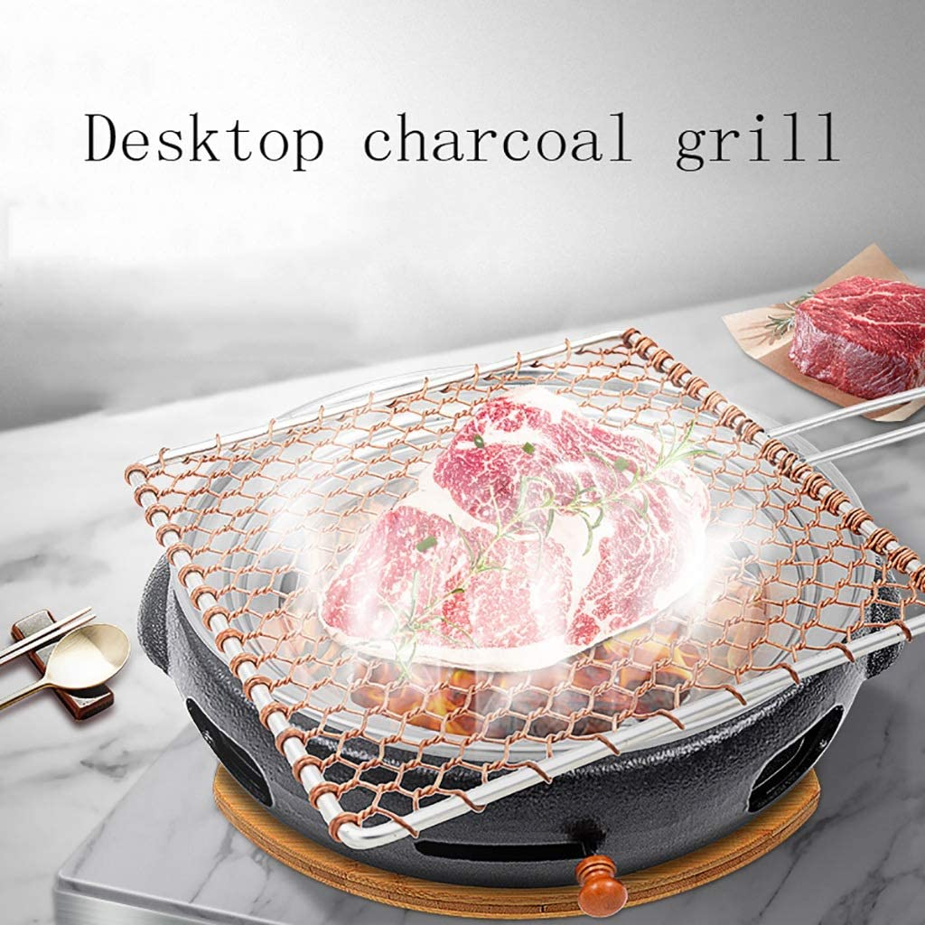 Guoguocy Grills électriques Barbecue, Ménage Barbecue Charbon Pot, en Fonte Barbecue au Charbon, Barbecue Commercial Korean Grill, 9 Styles (Color : A) I