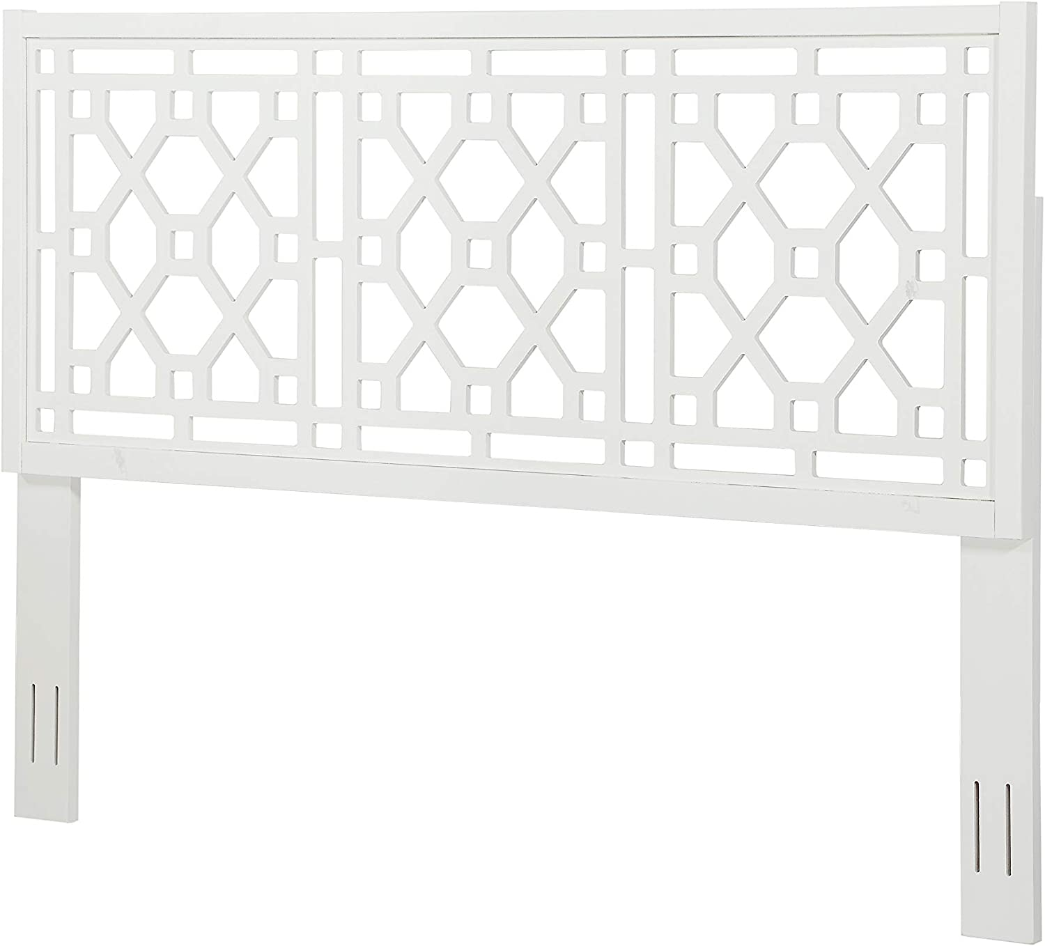 Source One Tulane Chippendale White King OFFer Headboard Cheap super special price