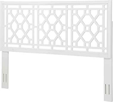 Source One Tulane Chippendale White King Headboard,
