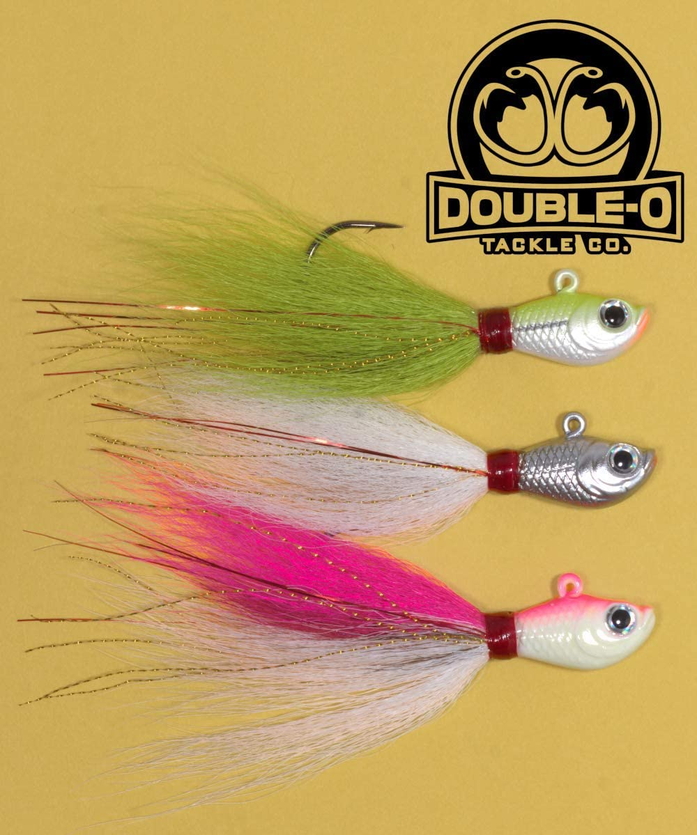 Double-O Tackle Limited Excellent time sale Co. 3pk Beaucoup Chart Silver Pink Bucktails