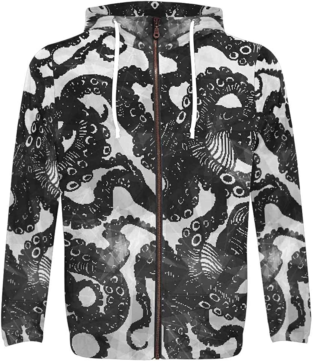 InterestPrint Men's Full Zip Long Fit Athletic Sleeve Max 78% OFF Hoodie wit National uniform free shipping