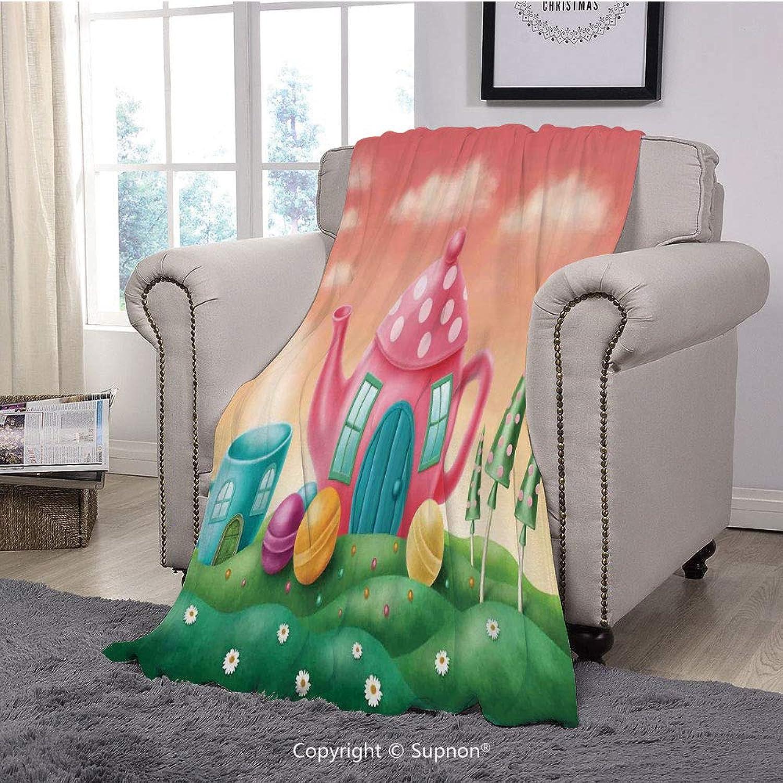 BeeMeng Printing Blanket Coral Plush Super Super Super Soft
