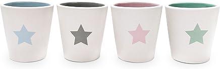 Preisvergleich für YOKO DESIGN 1404Etoile Set 4Tassen Espresso Keramik weiß 5,7x 5,7x 6,2cm