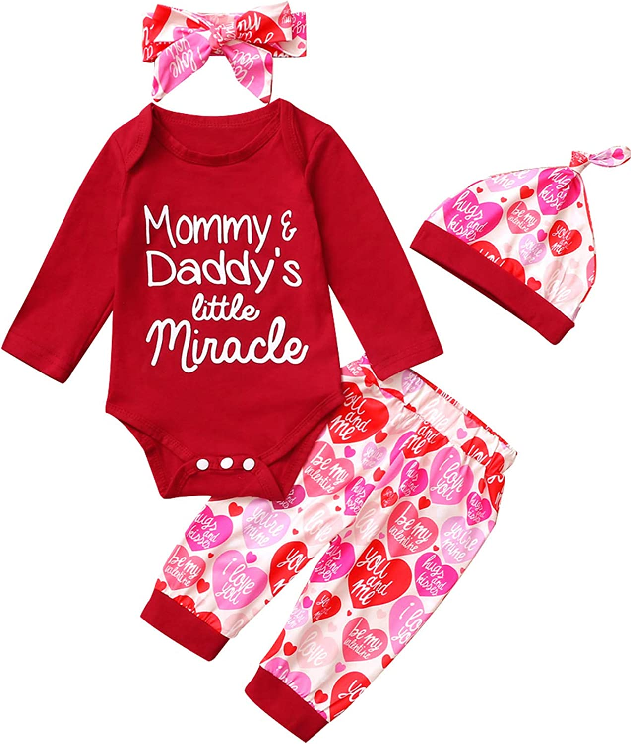 Mutiggee Baby Girls New Year Outfits 1st New Year Day Bodysutit Frist New Year Day Outfits