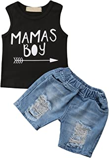 Toddler Kids Baby Boy Outfits Clothes T-shirt Sleeveless Tops+Pants 2P QIS