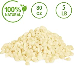 YUCH Organic Beeswax Pearls - White. All Natural. 5 lb