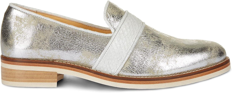 NINE TO FIVE Loafer Loafer  Lapa (40,5, Silber Stone)  Rabatt-Verkauf