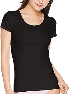 [グンゼ] インナーシャツ キレイラボ 完全無縫製 なめらかにフィット 綿混 2分袖 KL1852R レディース