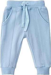 SYCLZ Unisex Kids 100% Cotton Drawstring Waist Active Jogger Pants Soild Color Baby Children Sweatpants with Pockets 12M-6T