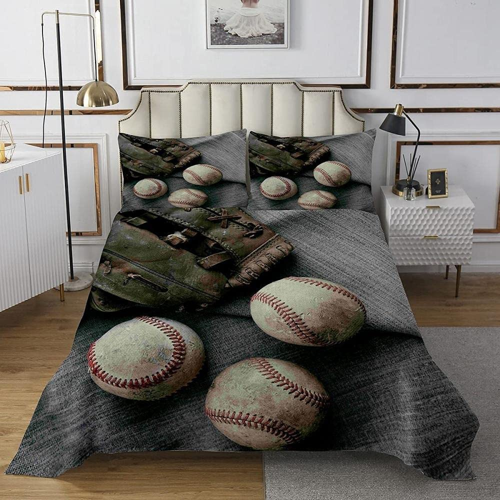 Genuine DAXIANGJIAO Duvet Cover Queen Size Baseball Care Bedding Year-end gift Du Easy