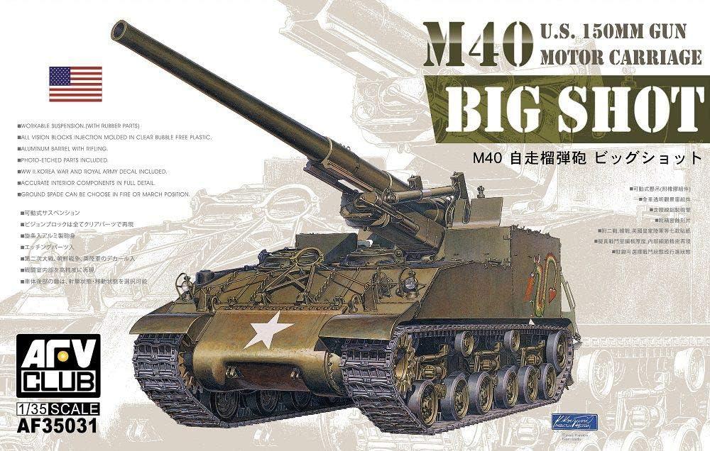 Unbekannt AFV-Club Large-scale sale 35031 New mail order Model Kit M40 Re-Edi Self-Propelled Gun