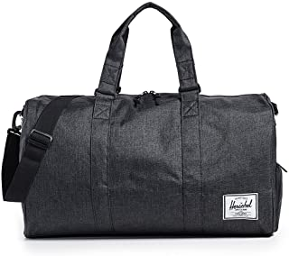 Herschel Supply Co. Novel Duffel Bag, Black Crosshatch, One Size