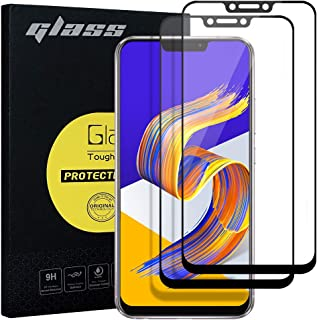 Zenfone5 ZE620kl ガラスフィルム G-luck【二枚セット】 強化フィルム 3D曲面 液晶保護フィルム 高透過率 飛散防止 硬度9H 指紋防止 サラサラ 自己吸着 キズ防止