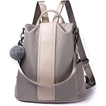 Women Backpack Purse Waterproof Nylon Anti-theft Rucksack Lightweight  School Shoulder Bag 55aa6c4867a38