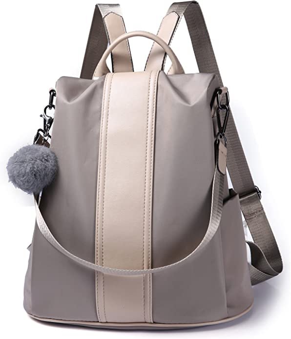Pincnel Women Backpack Purse Waterproof Nylon Anti-theft Rucksack