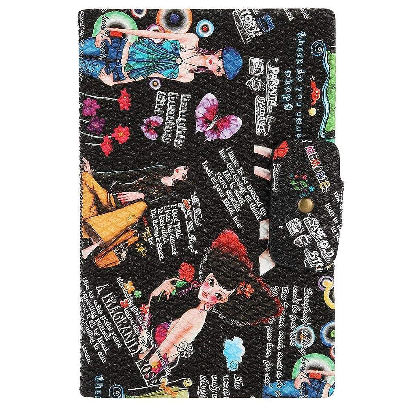 ガス十分なカセットネイルアートディスプレイ カード マニキュア ディスプレイボード UVジェルディスプレイカードマニキュア練習ツール(02)