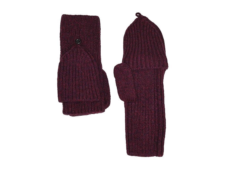 UGG Knit Flip Mitten (Port) Extreme Cold Weather Gloves