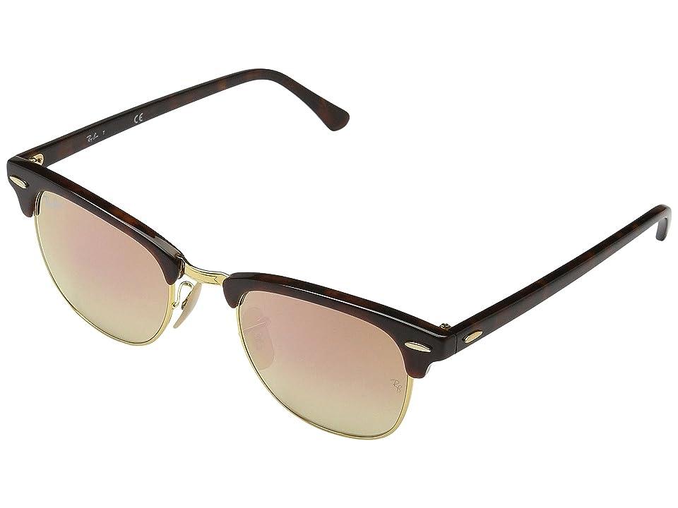 Ray-Ban Clubmaster RB3016 51mm (Tortoise/Copper Gradient Flash) Fashion Sunglasses