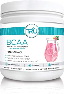 TRU BCAA Powder, Plant Based Branched Chain Amino Acids, Vegan Friendly, Zero Calories, No Artificial Sweeteners or Dyes, ...