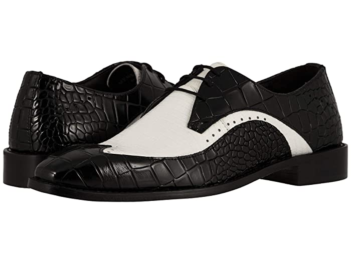 Mens Vintage Style Shoes & Boots| Retro Classic Shoes Stacy Adams Trazino BlackWhite Mens Shoes $81.97 AT vintagedancer.com