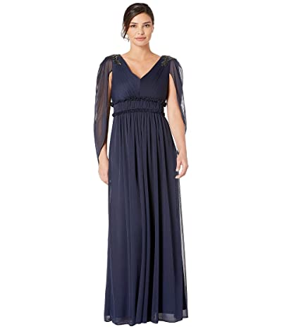Adrianna Papell Tulle Evening Gown (Midnight) Women