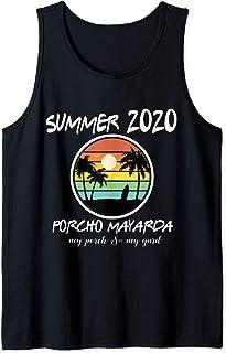 Summer Porcho Myarda Staycation Quarantine Vintage Funny Tank Top