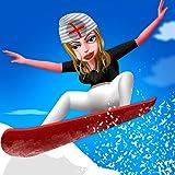 Nurse Vacation Winter Fun : スノーボード冷たいスポーツ少女の週末 - プレミアム