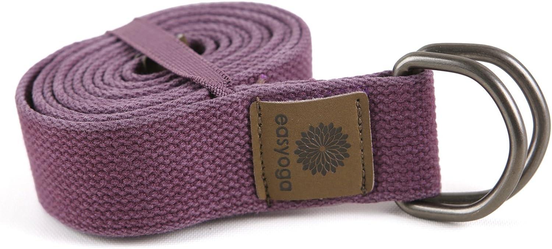 Easyoga (Easy Yoga) yoga strap premium Long YFE-007-P1 Purple