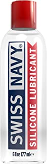 Swiss Navy Premium Silicone-Based Lubricant, 6 Ounce, Personal Sex Lube for Men, Women..