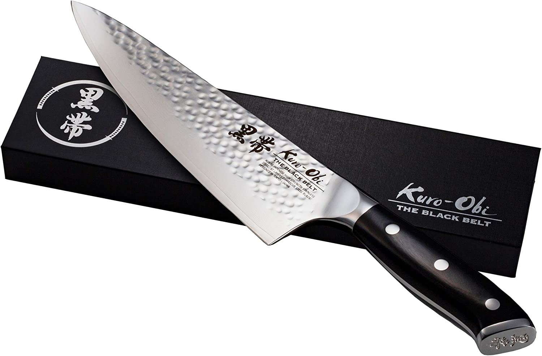 Kuro-Obi Professional Damascus Chef Cheap mail order shopping knife AUS-10 35% OFF C Japanese High