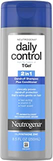 Neutrogena T/Gel Daily Control 2-in-1 Anti-Dandruff Shampoo Plus Conditioner with Vitamin E and Pyrithione Zinc, Fast Acti...