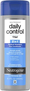 Neutrogena T/Gel Daily Control 2-in-1 Dandruff Shampoo Plus Conditioner 2in1 Shampoo Plus Conditioner, 8.5 Ounce, Pack of 1