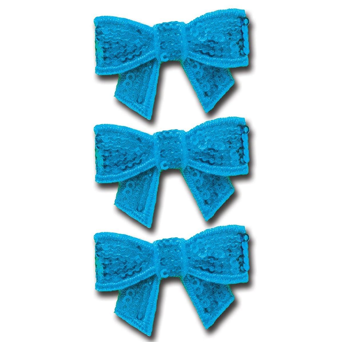 Maya Road Sparkle Sequins Bow Embellishment - Beautiful Blue