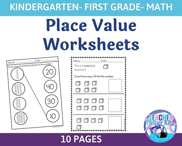 Kindergarten First Grade Math Place Worksheets
