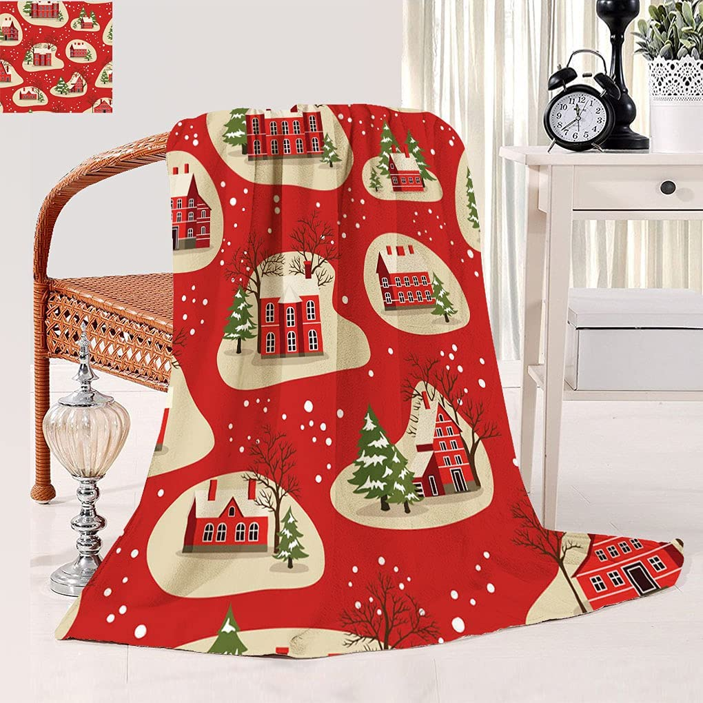Christmas Decor Super Soft Blanket Patte Fees free New Manufacturer regenerated product Year and