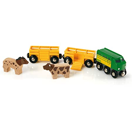 BRIO World Farm Train for Kids age 3 years and up compatible with all BRIO train sets