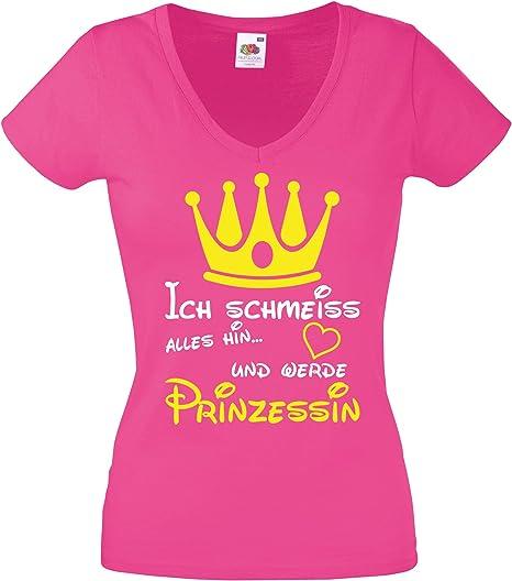 Krone Kapuze K/ängurutasche Ich schmei/ß Alles hin und werd Prinzessin Comedy Shirts M/ädchen Hoodie Langarm Print-Pulli