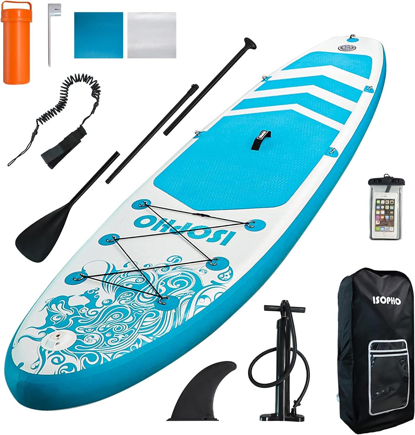 定番から日本未入荷 ISOPHO Inflatable Stand up Paddle Camera Board 国内送料無料 10'6''x31' Seat